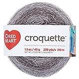 RED HEART E887.9439 Croquette crochet thread Titanium: more info