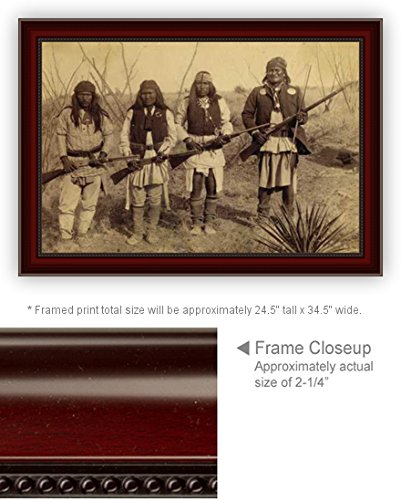 20 x 30 Canvas Print Framed Geronimo And HIs Band Of Warriors Photo at Cibecue Creek AZ Win Gen Crook Pow - Creek Jordon
