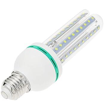 BeMatik - Bombilla de luz LED de 12W E27 luz fría día 6000K alargada