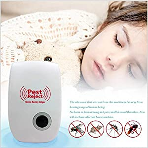 Ultrasonic Pest Repeller 4 Pack Pest Repeller for Insects Ants Roaches Mosquitoes Mice Spiders Bugs Flies Rodents, Non-toxic Eco-Friendly Humans & Pets Safe