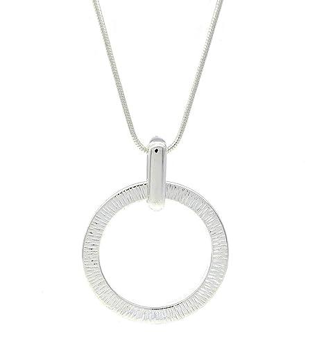 756d14c8fa47 Círculo abierto Simple moda Unisex detallada de Colgante Collar  Stylish  Jewellery  Amazon.es  Joyería