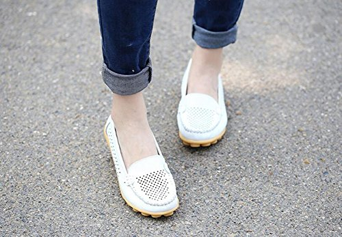 Shoes 36 Loafers Out Flat HUAN Shoes Shoes Color Comfort Size Peas ONS Leather A Shoes Pregnant Walking Slip Women's Shoes Hollow Nurse Breathable Summer zPnwzq6g