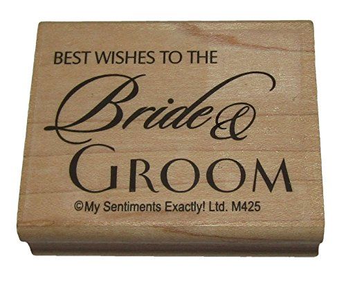 Best Wishes to The Bride & Groom Rubber Stamp 2