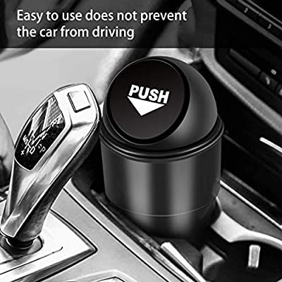 YIOVVOM Vehicle Automotive Cup Holder Garbage Can Small Mini Trash Bin Car Trash Garbage Can for Car Office Home (Black): Automotive