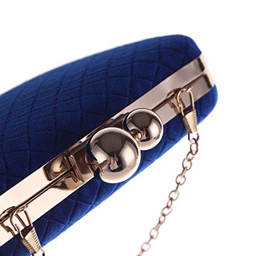 forma donna da con da sera borsa pranzo da velluto strass con strass con croce blu con a diagonale Borsa Borsa in di pranzo frizione da Borsa banchetto Borsa da gwpqYFp
