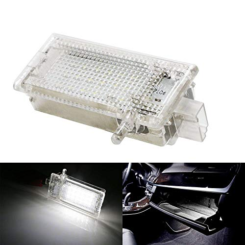iJDMTOY Full LED Glove Box Light For BMW 1 3 X1 X3 X5 Series MINI Cooper, OEM Replacement, Powered by 18-SMD Xenon White LED Lights & CAN-bus Error Free