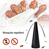 Mosquito Killer Tabletop Fly Repellent Food Meal Enjoy Outdoor Fly Repellent Fan,Tabletop Repellent,Material:ABS+PVC, Size: 25 x 9 x 9cm, Power: 2 x AA Batteries (Not Included)