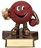 Basketball Lil' Buddy Trophy - Customize Now - Personalized Engraved Plate Included & Attached to Award - Perfect Basketball Trophy - Hand Painted Design