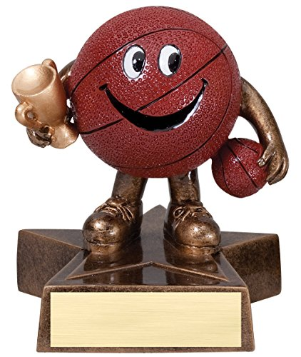 Basketball Lil' Buddy Trophy - Customize Now - Personalized Engraved Plate Included & Attached to Award - Perfect Basketball Trophy - Hand Painted Design - Decade Awards - Madness Buddy