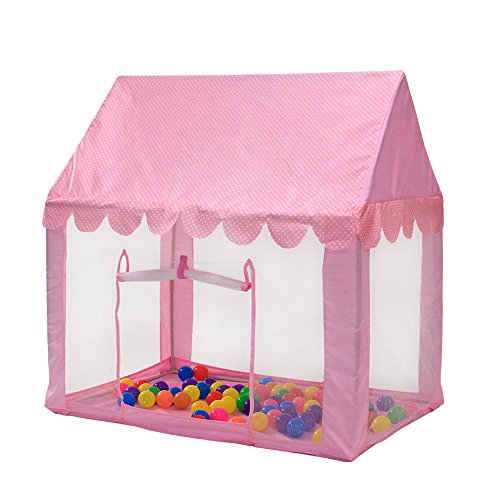 InnoFun Kids Princess Castle Play Tent, Children Playhouse,Girls Personal Playing Zone (Balls&Lights not (Fun Zone Tent)