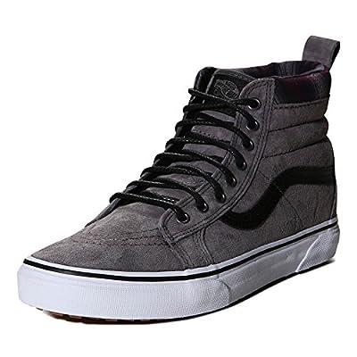 Vans V00XH4JTG Sk8-Hi MTE Unisex Skate Shoes, Pewter/Plaid, Size: 5 Men US/6.5 Women US