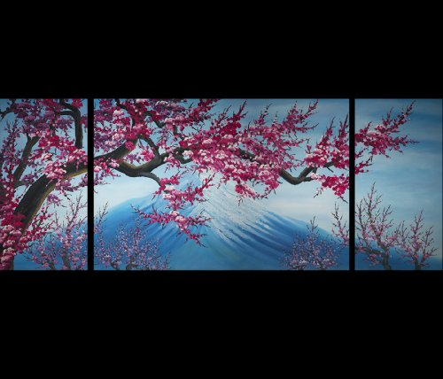 Abstract Art Chinese Flower Plum Blossom Feng Shui Oil Painting by Fengshui-paintings.com