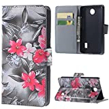 "For Huawei Y635 5.0"" Case Flip PU Wallet Cell Phone Cases Protective Cover Flower Amaxy"