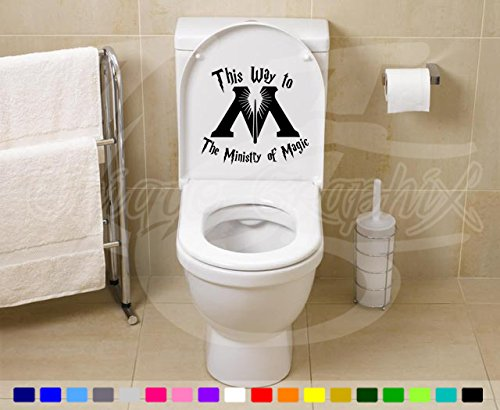Harry Potter Ministry of Magic Bathroom Toilet Wall Decal Slytherin Hogwarts Dumbledore