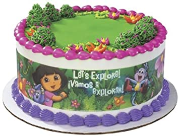 Lucks Edible Image Dora the Explorer Designer Prints Cake