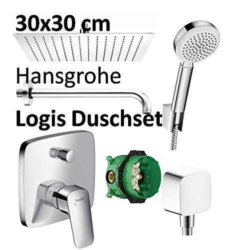 Hansgrohe Logis Unterputz Duscharmatur Set ibox Armatur Duschteller 30 cm