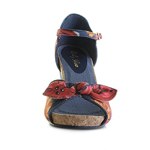 Ladies Coral Wedge UK Friendly Molly Floral Retro Shoo Ruby Shoes EU 5 38 Vegan 5qpWUx