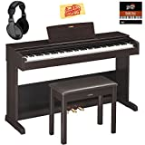 Yamaha YDP-103R Arius Console Digital Piano - Dark Rosewood Bundle with Furniture Bench, Headphones, Austin Bazaar Instructional DVD, and Polishing Cloth
