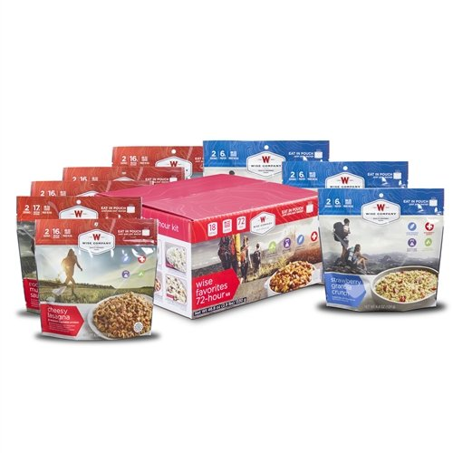 Wise Foods Company Camping Favorites Cook-in-Pouch Freeze Dried Food Kit - Great for Backpacking and Hiking by Wise Company