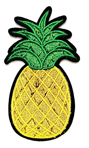 Nipitshop Patches Beautiful Sequin Cactus Summer Pineapple Fruit Logo Movie Cartoon Kid Patch Symbol Jacket T-Shirt Patch Sew Iron on Embroidered Sign Badge Costume