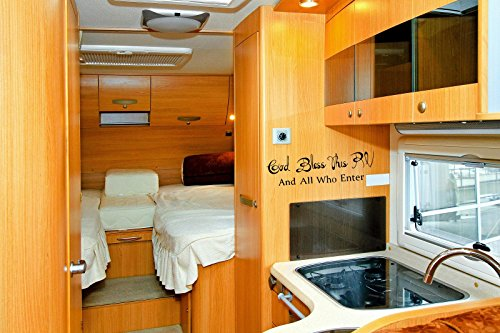 Classy Vinyl Creations God Bless This Rv and All Who Enter Decal Sticker Accessory 6