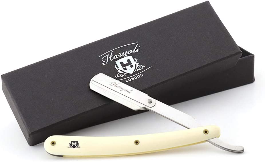 Haryali Ivory Color Barber Professional Straight Edge Razor For Men Perfect Shave