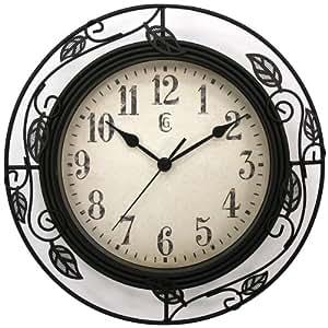 Amazon Com Geneva 12 Quot Wrought Iron Wall Clock Home Amp Kitchen