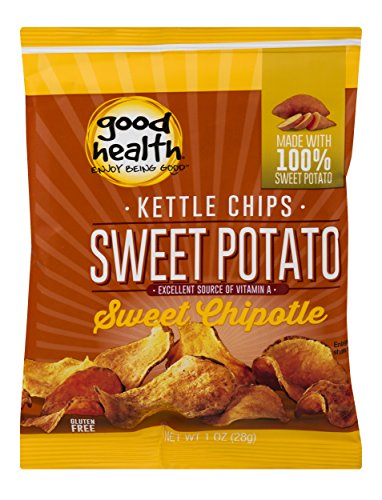 (Good Health Kettle Style Potato Chips, Sweet Potato, Sweet Chipotle, 1 oz. Bag, 30 Pack - Gluten Free, Crunchy Chips, Great for Lunches or Snacking on the Go)