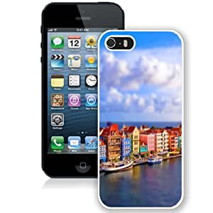 Fashionable And Unique Designed Cover Case For iPhone 5 5S With Colorful Venice Port_White Phone Case