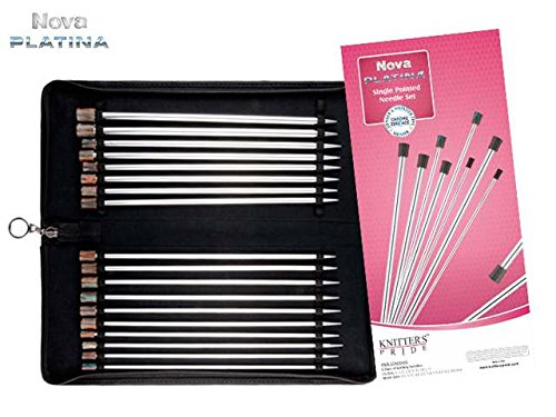 Knitter-s Pride Single Pointed Needle Set, Nova Platina 10'' / 25 cm by Knitter's Pride