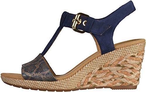 Karen Gabor st Women's ba Wedge Sandals blue fqSdqw4