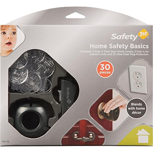 Safety 1st Clear Grip - Safety 1st Home Safety Décor Basics Kit 60 Pieces Set