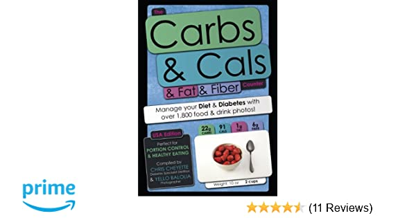 the carbs cals fat fiber counter usa edition manage your diet diabetes with over 1 800 food drink photos