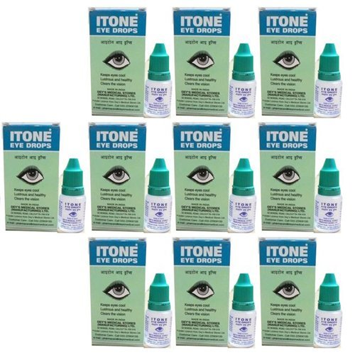 10 x Itone Ayurvedic Herbal Eye Drops Natural Allergies 10ml- Pack of 10