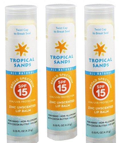 Tropical Sand SPF 15 Lip Sunscreen - 3 PACk (Spf Sand 15)