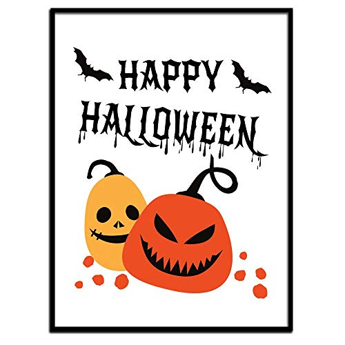 MalertaART Happy Halloween Wall Art Print Printable Halloween Poster Halloween Poster Pumpkin Wall Art Pumpkin PosterPrintable HalloweenPumpkins Framed Wall Art]()