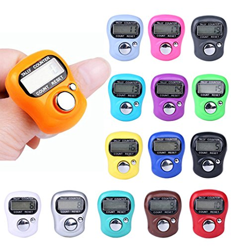 Orcbee  _Digit Digital LCD Electronic Finger Hand Ring Knitting Row Tally Counter ()