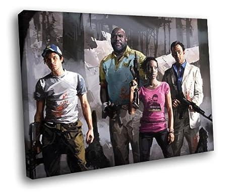 Amazon com: H5D8835 Left 4 Dead 2 Characters Art 20x16 FRAMED CANVAS