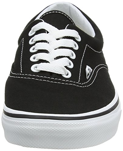 Black Canvas Classic Vans Era White Unisex Zapatillas Adulto Negro 0ZAqwTF