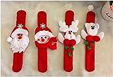 6pcs Christmas Patting Circle papai noel enfeite de natal Christmas Children Gift New Year Party Toy santa Claus