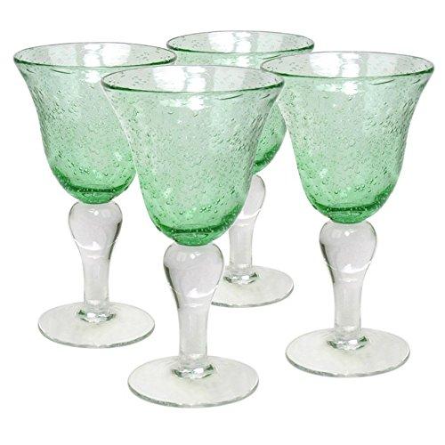 Artland Iris Goblet, Light Green, Set of 4