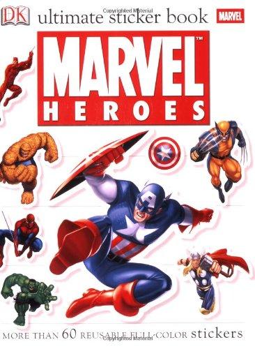 Ultimate Sticker Book: Marvel Heroes (Ultimate Sticker Books) (Superhero Sticker Book)