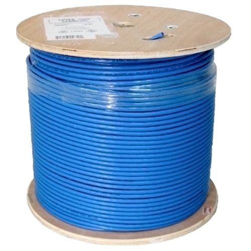 Vertical Cable Cat6A 10G, UTP, 23AWG, Solid Bare Copper, PVC, 1000ft, Blue, Bulk Ethernet Cable (Utp Pvc Cable Solid)