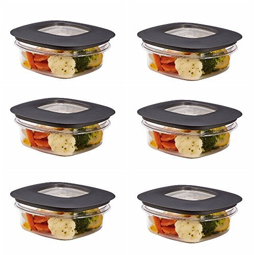 (Rubbermaid Premier Food Storage Container, 1.25 Cup, Grey (6 Pack))