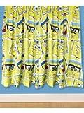 Character World 72-inch SpongeBob Squarepants Framed Curtains, Multi-Color