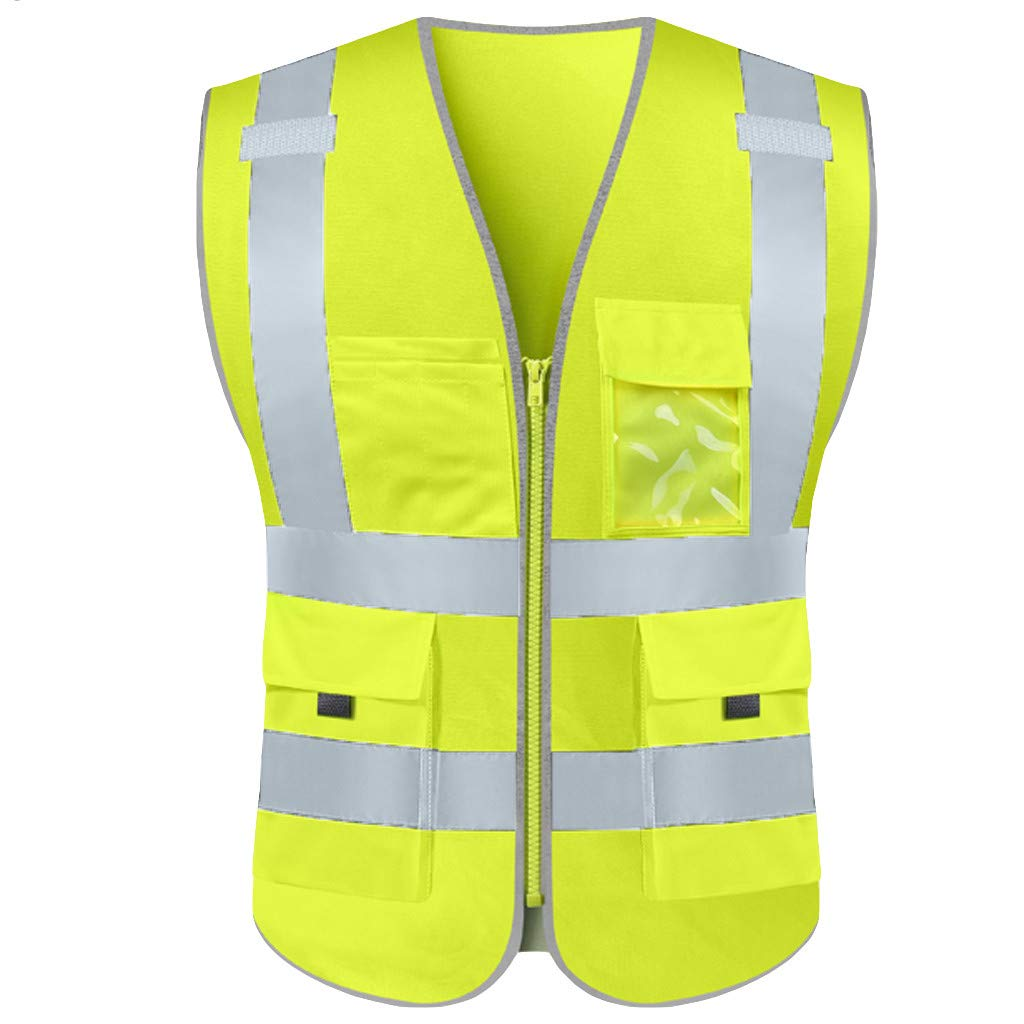 Road Work Uniform Vest Coat High Visibility Long Sleeve Plus Size Sweatshirt Tops Blouse Jacket TAGGMY Pullover for Men