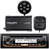 JVC KD-R97MBS Marine Boat CD MP3 SiriusXM Ready Pandora AM/FM Radio Player With SiriusXM SXV300v1 Connect Vehicle Tuner Bundle, Cadance BTM-1 Enable Bluetooth Music Streaming