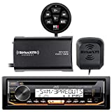 New Sony CDXM20 Marine Stereo SiriusXM AM/FM Radio Receiver and SiriusXM SXV300v1 Connect Vehicle Tuner Bundle With Cadance Bluetooth Adapter BTM-1 Enable Bluetooth Music Streaming