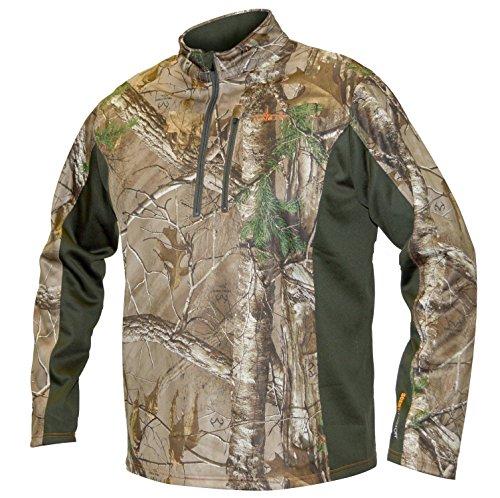 Habit Men's Techshell Lite Pullover Top, Realtree Xtra/Night Forest, Medium (Nite Lite Jacket)