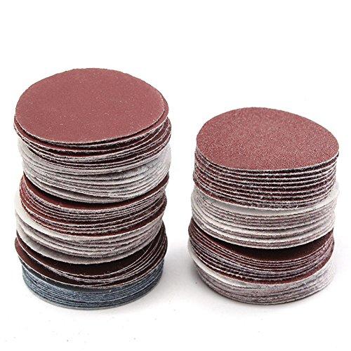 SODIAL 100pcs Abrasive Tools Sander Disc 50mm 2' Round Sanding Pad Sheets Sandpaper Polishing Tools